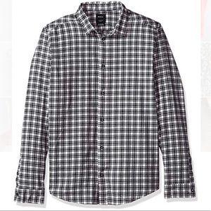 RVCA Slim Fit Plaid Flannel Button Down Shirt L